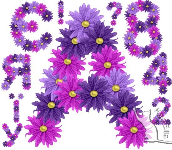 Квітковий український алфавіт