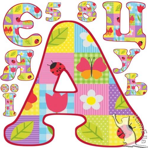 Український алфавіт дитячий з клаптиків