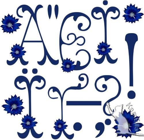 Український алфавіт з волошками