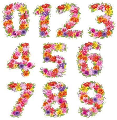 Цифри з квітів