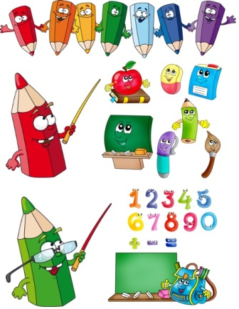 Веселі цифри і олівці png