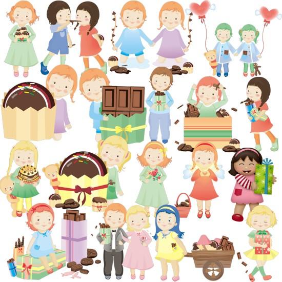 Діти з подарунками png
