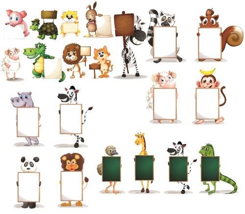 Тварини з карточками png