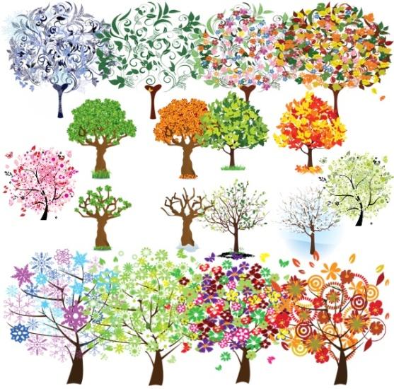 Дерева, пори року png