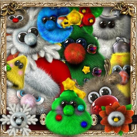 Пухнасті іграшкові прикраси png