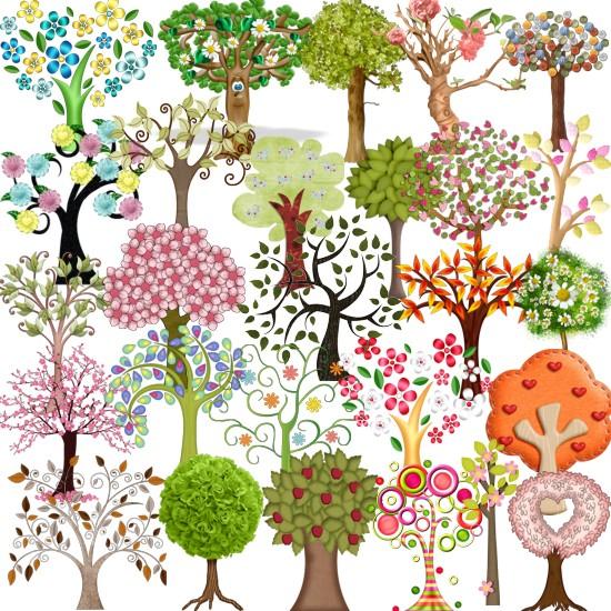 Декоративні дерева png