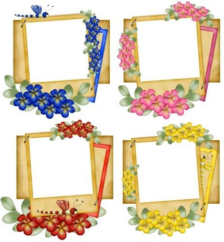 Декоративні рамочки з квітами