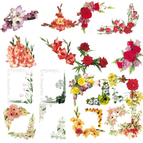 Кутики з квітами для рамок