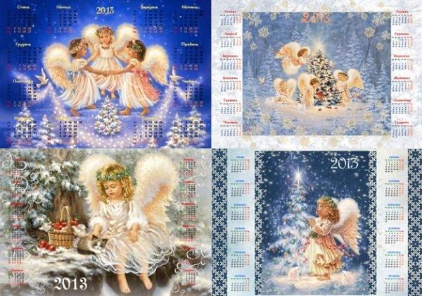 Різдвяні календарики з янголятами 2013 рік