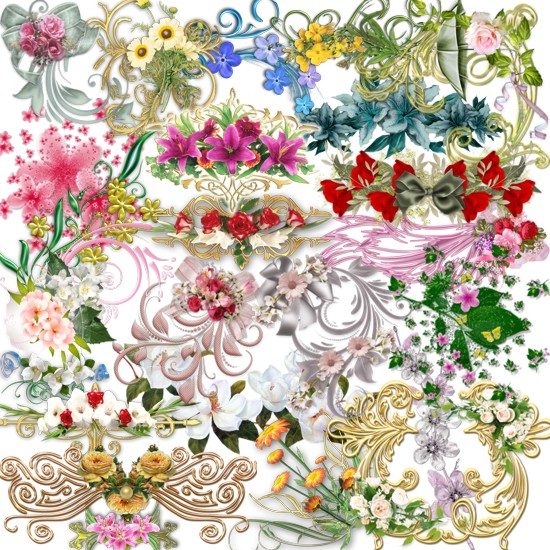 Декор з квітами