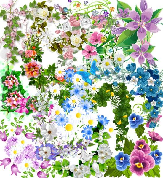 Квіткові кутики для рамок