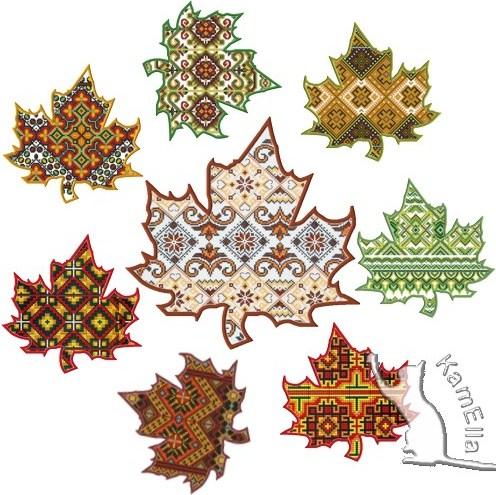 Осінні листки-вишиванки