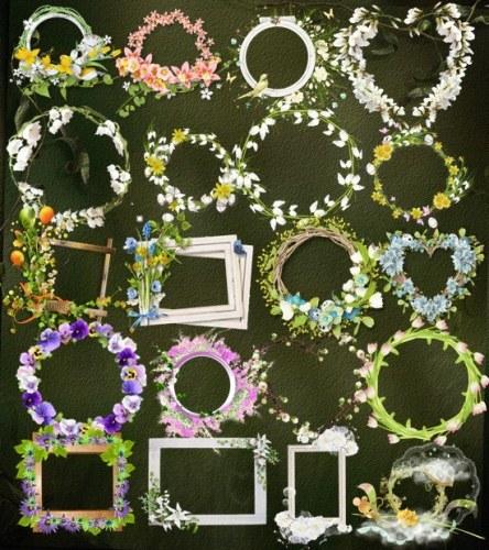 Весняні рамки з квітами