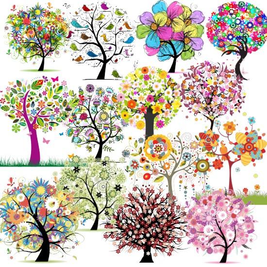 Квітучі дерева весною