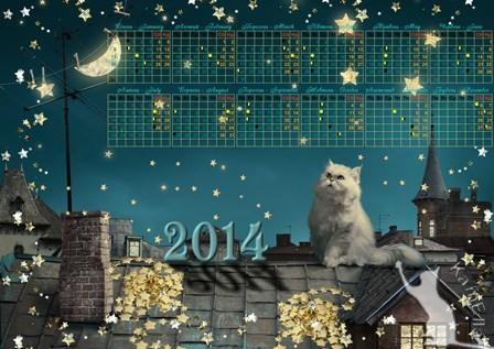 Місячний календар на 2014 рік