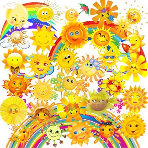 Сонце і райдуга png