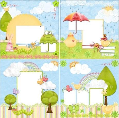 Дитячі весняні рамки