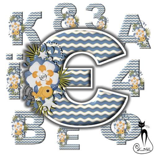 Український алфавіт морський psd