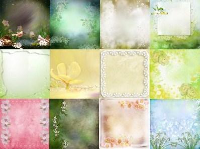 Весняні фони для оформлення робіт