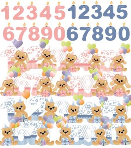 День народження - святкові цифри png