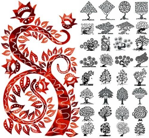 Графічні малюнки дерев png