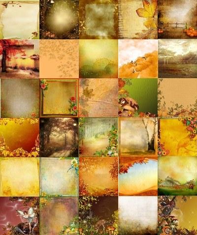Осінні фони для творчості