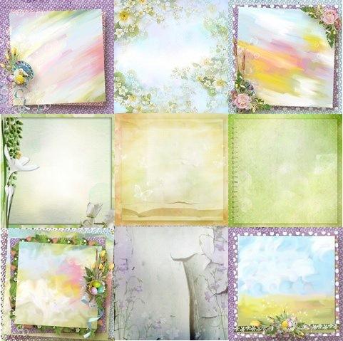 Красиві весняні фони для оформлення робіт