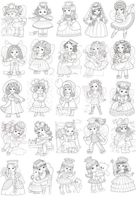 Розмальовки з принцесами