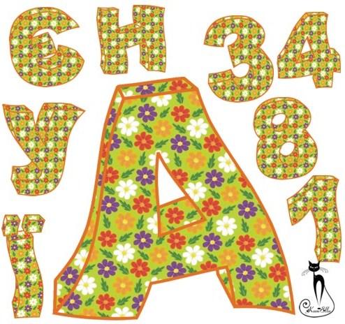 Український алфавіт квітковий