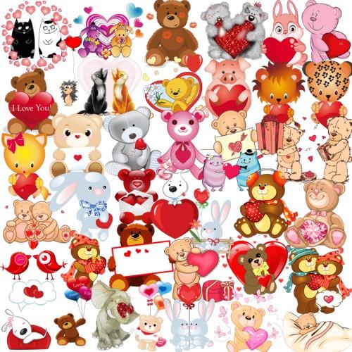 Тваринки-валентинки png