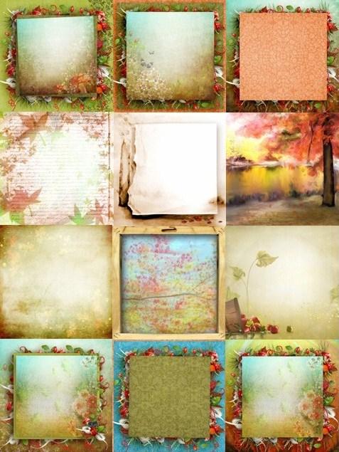 Осінні фони для оформлення робіт