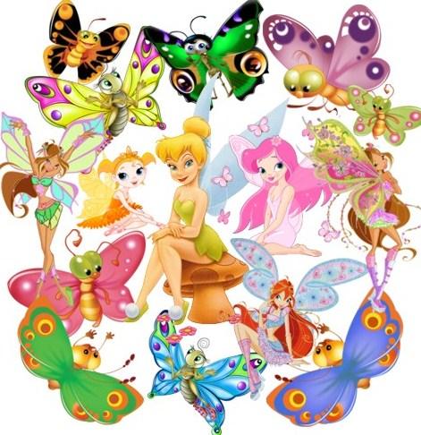Метелики і феї png