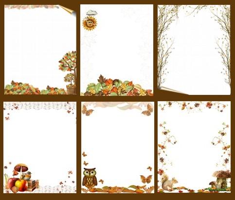 Шаблони-аркуші осінні